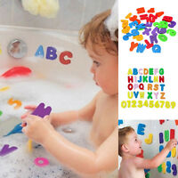 36Pcs Bath Learn Letters & Numbers Stick Floating EVA Baby Bathroom Water Toy