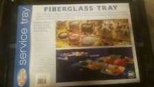 12 Winco Fgt-1418K, 14x18-Inch Black Rectangular Fiberglass Market Tray, F/S