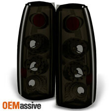 Fit 88-00 C/K C10 GMC Sierra Yukon Pickup Truck LED Smoked Tail Light Lamps