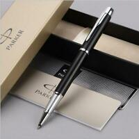 Luxurious Metal Parker IM Matte Black Silver Clip 0.5mm Fine Nib Rollerball Pen