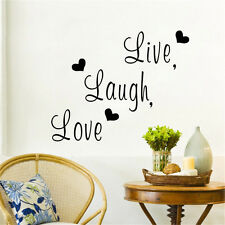 Live Laugh Love Inspirational Quote Vinyl Wall Sticker Home Decor Room Sofa DIY
