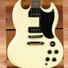 GIBSON SG SPECIAL 60s TRIBUTE WORN WHITE Satin Dual P90s Clean! 5325