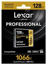 Lexar Professional 128GB 1066X 160MB/s Compact Flash CF Memory Card UDMA7 VPG-65