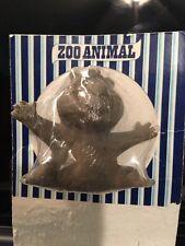 NEAR MINT ON CARD! 1970's Crest Toothpaste Zoo Animal Finger Puppet BEAR Premium