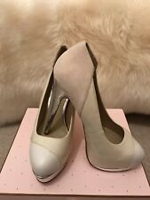 ALDO Rounded Toe High Heels in White, Cream, Beige & Silver