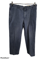 J Crew Broken In Regular Fit Casual Chino Pants Blue 100% Cotton Mens Size 34x30