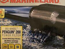 Marineland Penguin Bio-Wheel Power Filter, 30-50 Gallon, 200 GPH Open Box