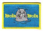 Flaggen Aufnäher Patch Moin Moin Seehund Fahne Flagge