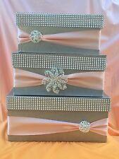 wedding card box silver three tier card box wedding money box  money holder