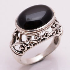 925 Sterling Silver Ring, Natural Onyx Gemstone Handcrafted Women Jewelry R2