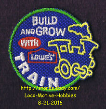 LMH PATCH Badge TRAIN Steam Locomotive Railroad  Build Grow LOWES Project Series
