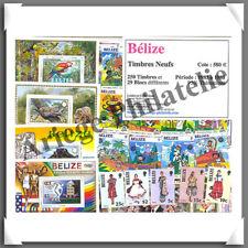 BELIZE - Timbres NEUFS - 250 Timbres et 29 Blocs - Années 1983 à 1988