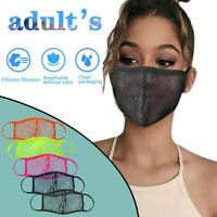 5 Color Mesh Face Mask Breathable Reusable Washable Adult Unisex Mesh Covering