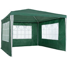 Gazebo da giardino tendone tenda per festa party con parti laterali 3x3 m verde
