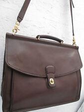 -AUTHENTIQUE ( J7C-5266 ) grand cartable   COACH  cuir TBEG  bag A4
