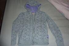 Girls Hello Kitty grey/purple hooded zipper jacket TU age 11 years