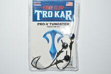 trokar pro-v head tungsten jighead 3/16oz bass pro v black 3 per pack