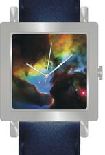 """Lagoon Nebula Detail"" Is the Hubble Image On The Dial Of The Chrome Watch"