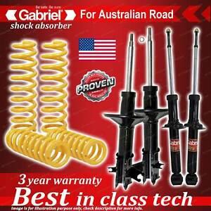 4 x STD Gabriel Shock + Coil Spring for Mitsubishi Lancer CE Sedan Coupe 96-9/03