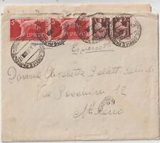 ITALIA 1946 2LX2 DEMOCRATICA SU ESPRESSO X MILANO