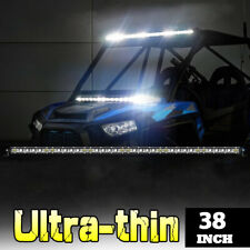 38inch 1180W Spot Flood Combo Slim LED Work Light Bar Single Row Car 4WD Offroad