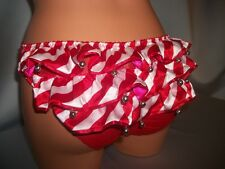 Victorias Secret Santa Baby JINGLE BELL Ruffle Butt Panty NWT L