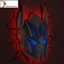 Transformes 3D FX Deco Led Night Light OPTIMUS PRIME Wall Mounted Design