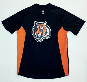 SZ L 14/16  NFL Youth Boys Cincinnati Bengals  Dri-Fit Short Sleeve Shirt