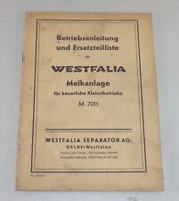 Mode D 'em Ploi + Catalogue des Pièces Westfalia Machine M 7011
