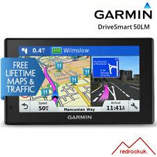 "Garmin DriveSmart 50LM 5""GPS Sat Nav - Full Europe Lifetime Maps & Smart Traffic"