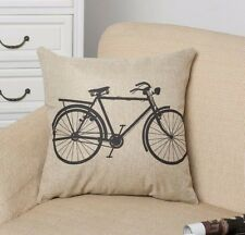 Two wheeled bicycle Throw Pillow Case Cushion Cover Home sofa pillowslip Linen