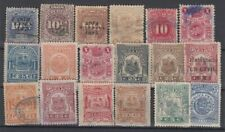 F-EX14854 PERU REVENUE STAMPS LOT.