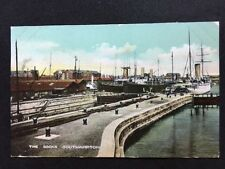 Vintage Postcard - Hampshire #A9 - RP The Docks, Southampton - 1905