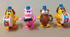 1970's windup vintage Tomy animal Band pig monkey dog drum cymbals xylophone lot