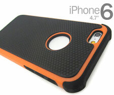 "Orange/Black Defender Heavy Duty Protective Case Cover Apple iPhone 6  4.7"""