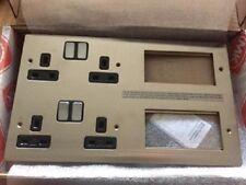 MK K14100 BSS B Edge Stacked Combination Plate 2 X 2G Sw/Skt. + 2 X 4 Mod. Euro