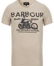 Barbour International Tunnel Tee Fog T-shirt Motorcycle Harley Tracker Biker XL