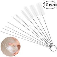 10pcs Test Tube Cleaning Brush Bottle Straw Washing Cleaner Hose Pipe Brushes