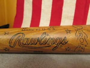 "Vintage Rawlings Wood Baseball Bat Professional Carl Yastrzemski Model 34"" HOF"