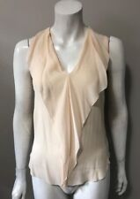 2e2548dd67f990 T. Babaton Nude Ainsley Silk Blouse Size XXS Chic Style Career