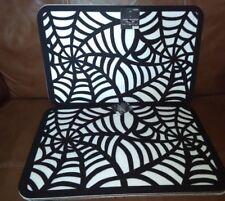 Happy Halloween Spider Web Design Felt Place mat Set of 6
