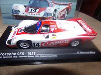 PORSCHE 956 24 H DU MANS 83 LAMMERS ixo 1/43 voiture miniature collection