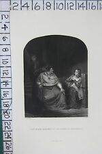 c1850 ANTIQUE PRINT ~ JOAN OF ARC EXAMINED BY THE BISHOP OF WINCHESTER