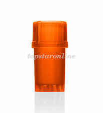 Topstaronline Storage Container Spice Tobacco Herb Plastic Grinder-Orange