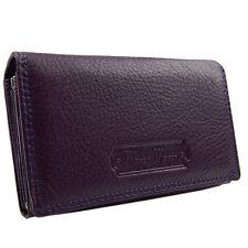 Damenlederbörse Damen Geldbörse Portemonnaie Geldbeutel Leder  5285  Purple