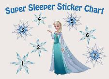 A5 Print - Children's Disney Frozen Reward Chart includes Disney Frozen Stickers