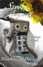 Sweet August Set of 3 Stocking Ornament Blackbird Designs Cross Stitch Pattern
