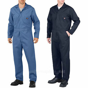 Dickies COVERALLS Mens Long Sleeve Mechanic Coveralls 48611 Blue Navy