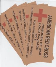 WW2 AMERICAN RED CROSS POW BOX LABEL AND CONTENTS LIST SET (REPRO)