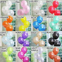 "50/100Pcs MultiColor 12"" Pearl Latex Balloons Birthday Wedding Baby Party Decor"